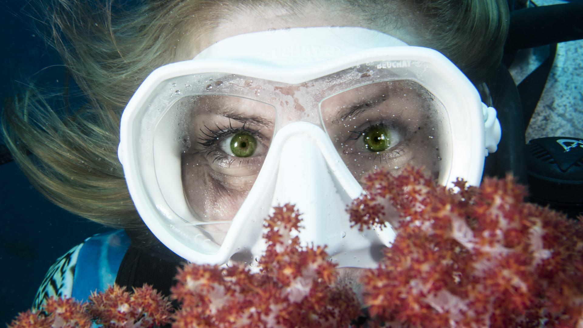 Volle Sicht unter Wasser